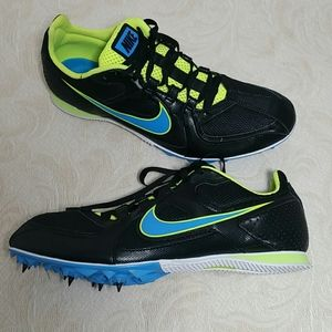 Nike Zoom Rival M black green blue cleets spikes